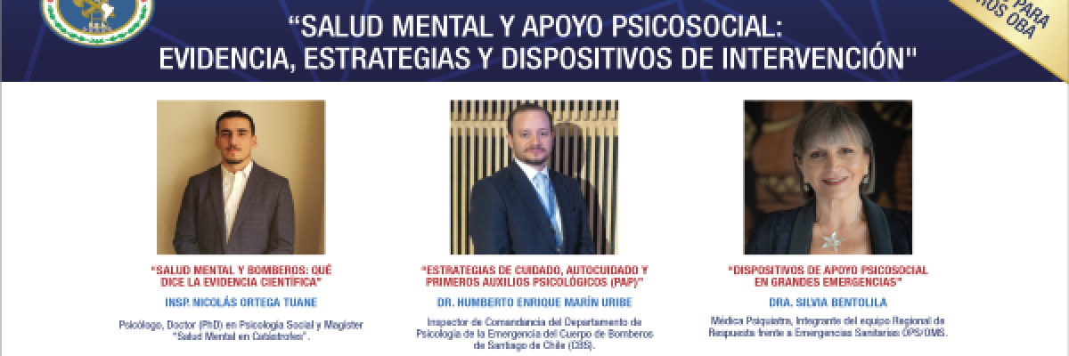 Conferencia Virtual para Miembros Activos sobre Salud Mental y Apoyo Psicosocial: evidencia, estrategias y dispositivos de intervención