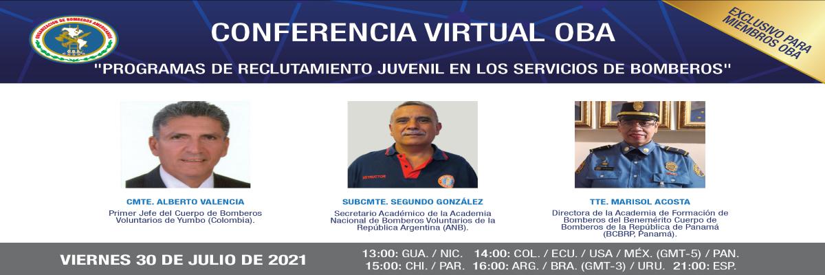"""Conferencia Virtual: """"Programas de reclutamiento juvenil en los servicios de bomberos"""""""