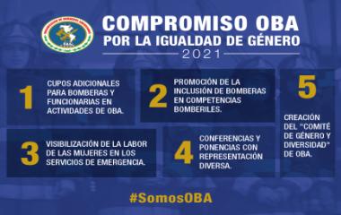 OBA asume compromisos concretos para promover la equidad de género en los servicios de bomberos