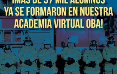 Más de 37 mil alumnos ya se capacitaron en la Academia Virtual OBA