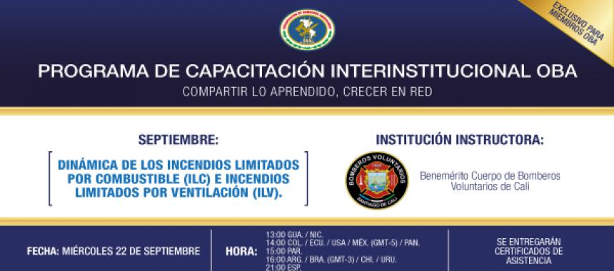 OBA desarrolla la cuarta Conferencia del Programa de Capacitación Interinstitucional