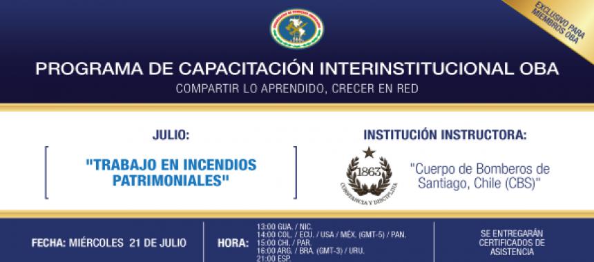 """Programa de Capacitación Interinstitucional: """"Trabajo en incendios Patrimoniales"""""""