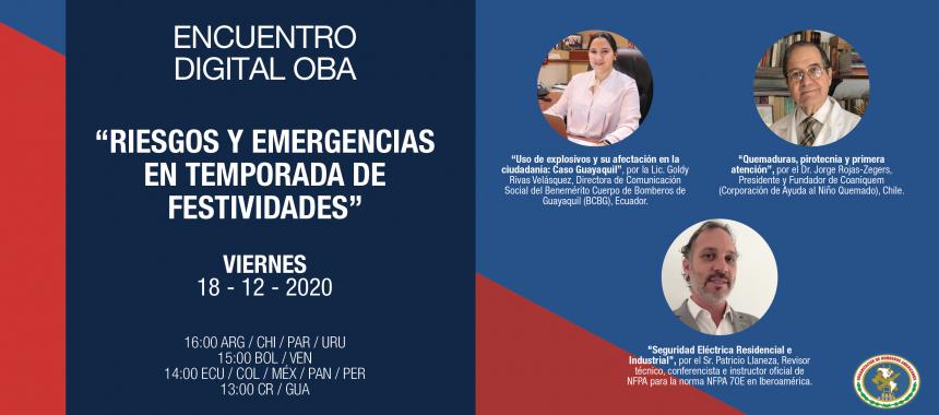 Encuentro Digital OBA: Riesgos y emergencias en temporada de festividades